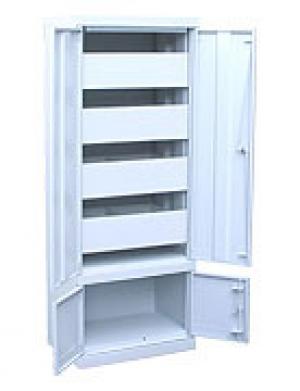 Шкаф металлический картотечный ШК-4-Д4 купить на выгодных условиях в Екатеринбурге
