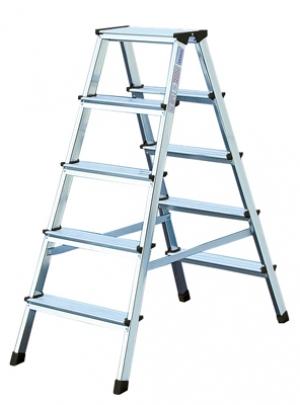 Лестница стремянка двухсторонняя Dopplo 5 ступени
